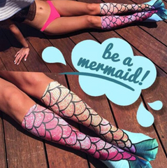Women Mermaid Socks 3D ver 1