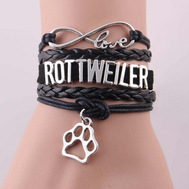 Rottweiler Bracelet - Handmade - Leather