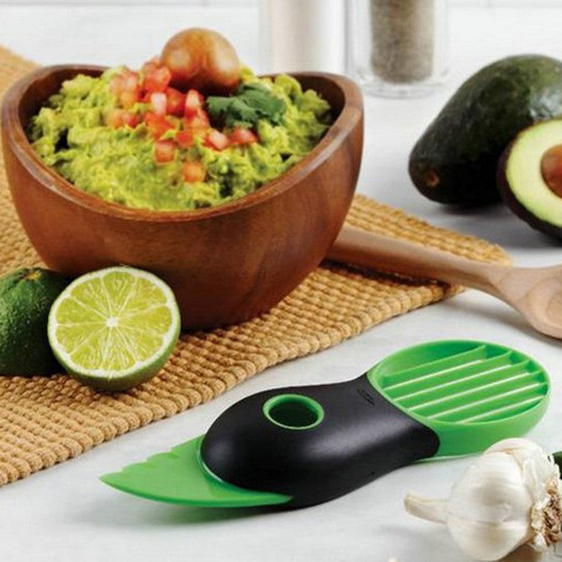 3 pcs/set Avocado Fresh Keeping Fruit Protected, 3-in-1 Avocado Slicer Splits Slices Sharp Pitter Peeler