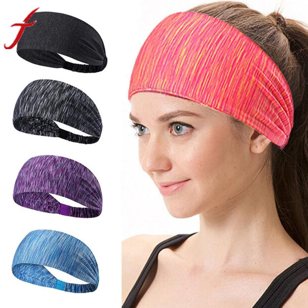Fashion Fitness Headband Women Knitted Turban Head Warp Hair Band Wide Elastic Headband Yoga
