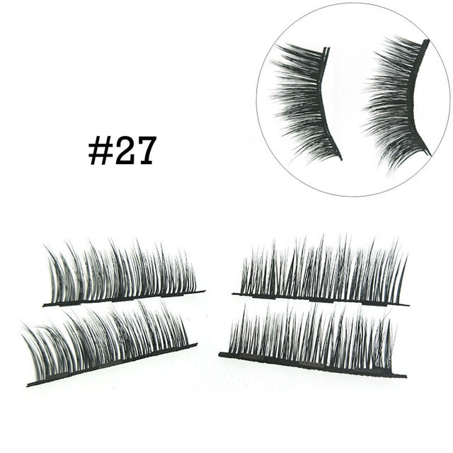 3D Mink Lashes 4 PCS/Pairs Magnetic Eyelashes Extension
