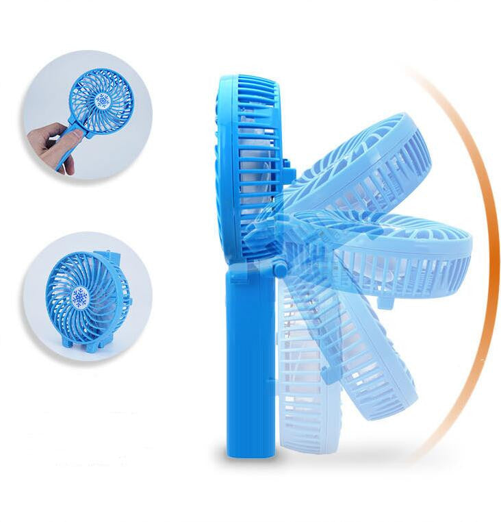 #1 Foldable Hand Fans Battery Operated Rechargeable Handheld Mini Fan Electric Personal