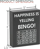 JennyGems Bingo Lovers Gifts, Happiness is Yelling Bingo, Wood Sign, Bingo Players Home Decor Keepsake Decoration
