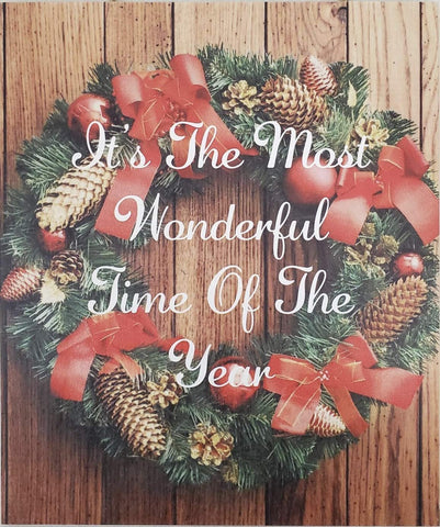 JennyGems Christmas Wood Sign | Christmas Decor | Christmas Decorations | It's The Most Wonderful Time of The Year | Made in The USA