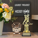 Hockey Sign, Loudest Proudest Hockey Mom -Wood Wall & Table Sign - Hockey Moms - Hockey Coaches - Old Time Hockey -Ice Hockey - Field Hockey, Sign by JennyGems