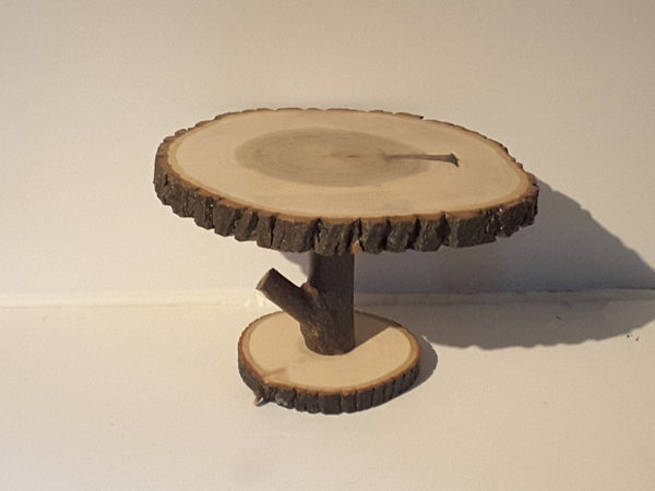 "10.5 by 11.5"" Tree slice display stand, rustic decor, home or wedding deocration"