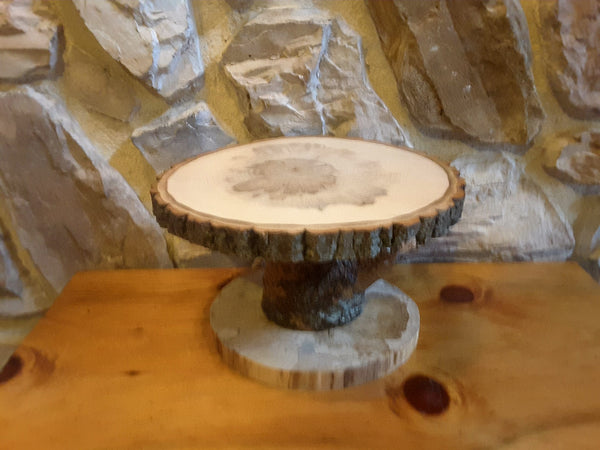 "12.5"" tree slice display stand,  rustic plant stand, centerpiece"