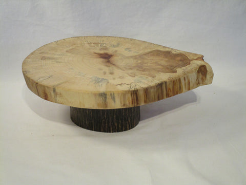 "Rustic wood slice display stand, 9""x 11"" American Beech stand"