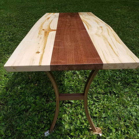 Black Walnut & Aspen live edge table