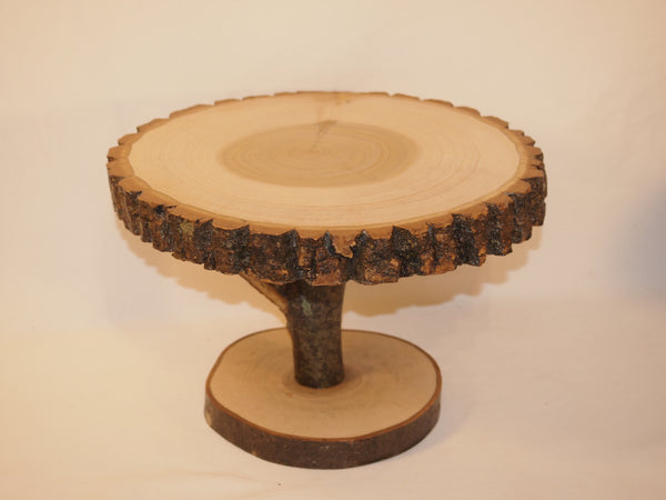 "10"" tree slice display stand, rustic home or event decor, plant stand"