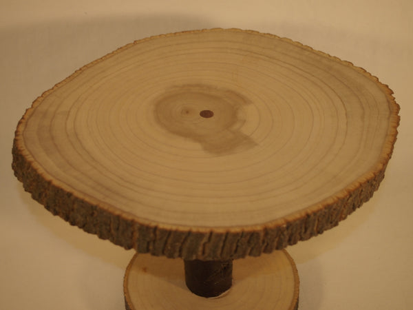 "9"" by 10 "" Rustic tree slice display stand, woodland event or home decor, plant stand"
