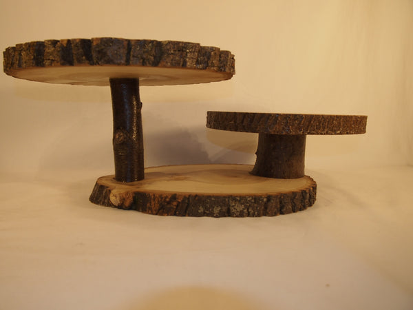 3 tier rustic display stand, table centerpiece, rustic event decor