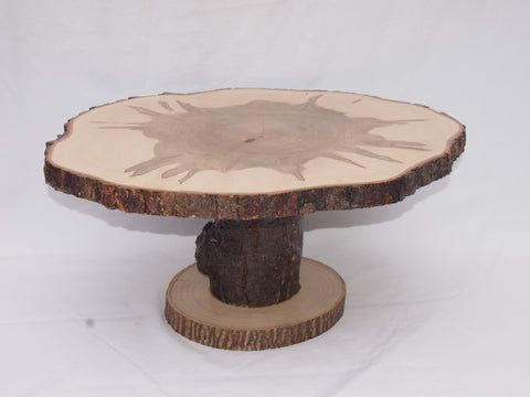 "15"" by 18"" Maple display stand, Tree slice centerpiece, food serving stand, rustic decor"