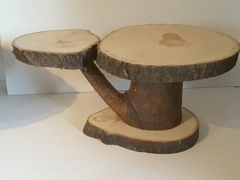 Rustic tree slice display stand, wedding or home decor, cupcake stand, cake stand