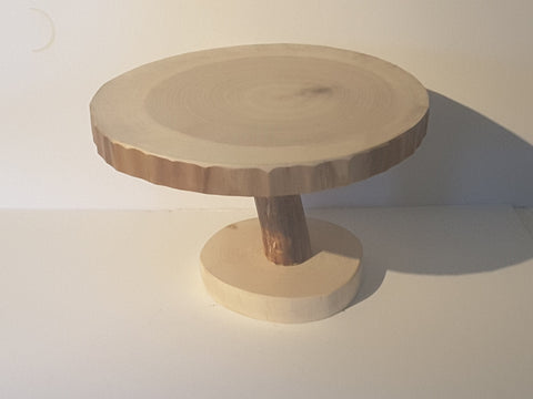 Tree slab display stand, rustic wedding or home decor, Plant holder, centerpiece, Cake stand