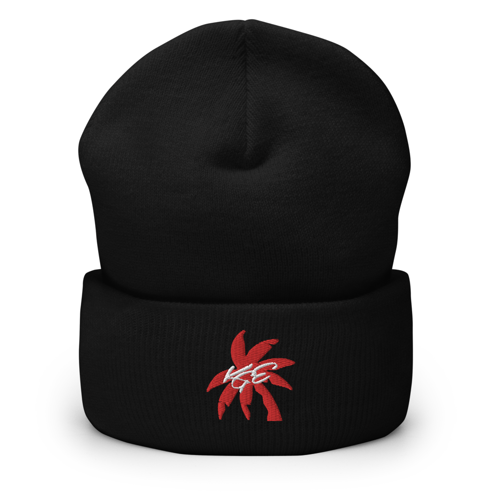 (NEW) Red Palm Tree KGE Signature Cuffed Beanie