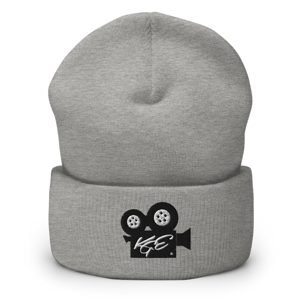 (NEW) KGE BK Movie Camera Cuffed Beanie