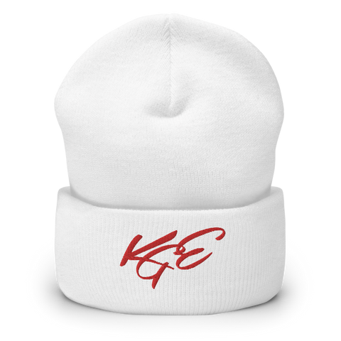 (NEW) Red KGE Signature Cuffed Beanie