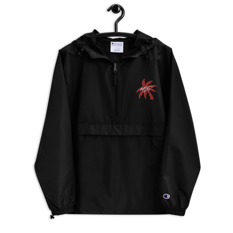 (New) Red Palm Tree KGE Signature Embroidered Champion Packable Jacket