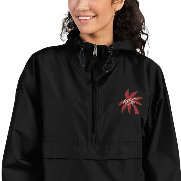 Red Palm Tree KGE Signature Embroidered Champion Packable Jacket