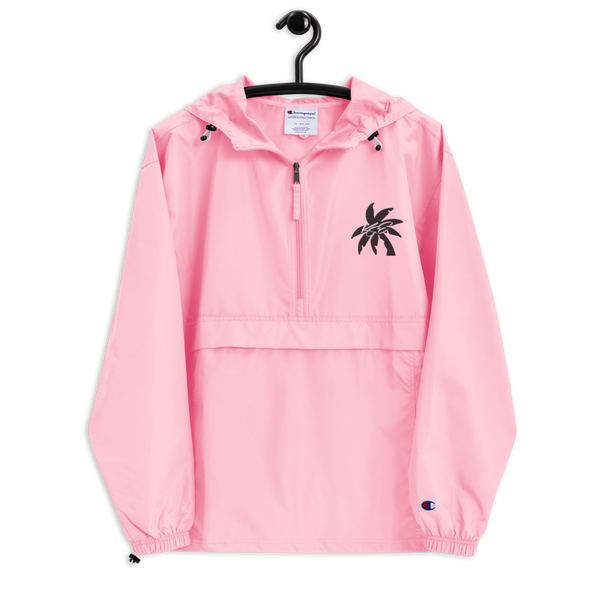 (New) Black KGE Palm Paradise Embroidered Champion Packable Jacket