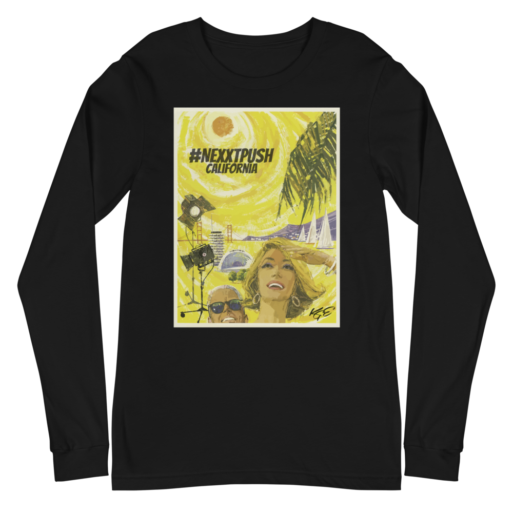 #Nextpush Vintage California - Bella + Canvas Unisex Long Sleeve Tee