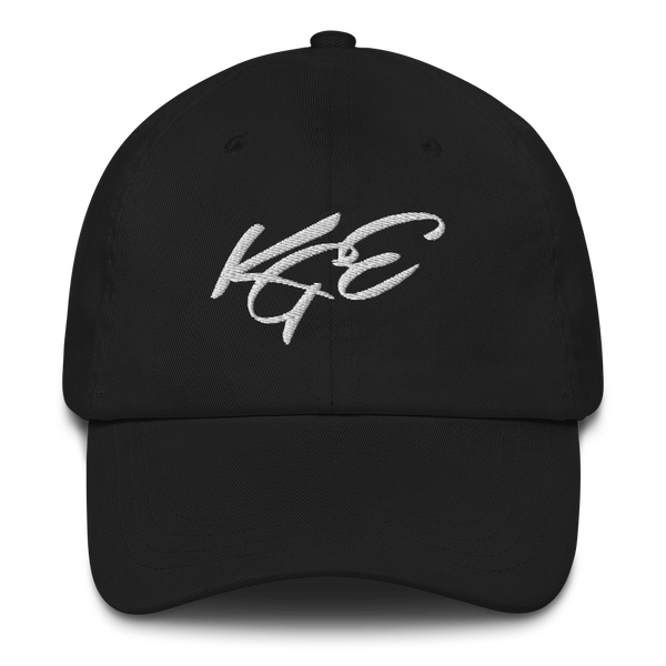 KGE White Letters Dad hat
