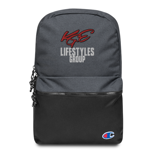 CHAMPION II - KGE LIFESTYLES GROUP'S EMBROIDERED BACKPACK - Limited Edition