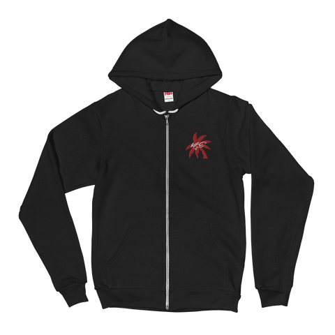 (new) American Apparel Red Palm Tree KGE Signature Zip Hoodie