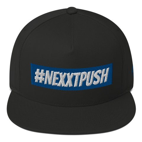 #Nexxtpush Blue bar Flat Bill Snapback