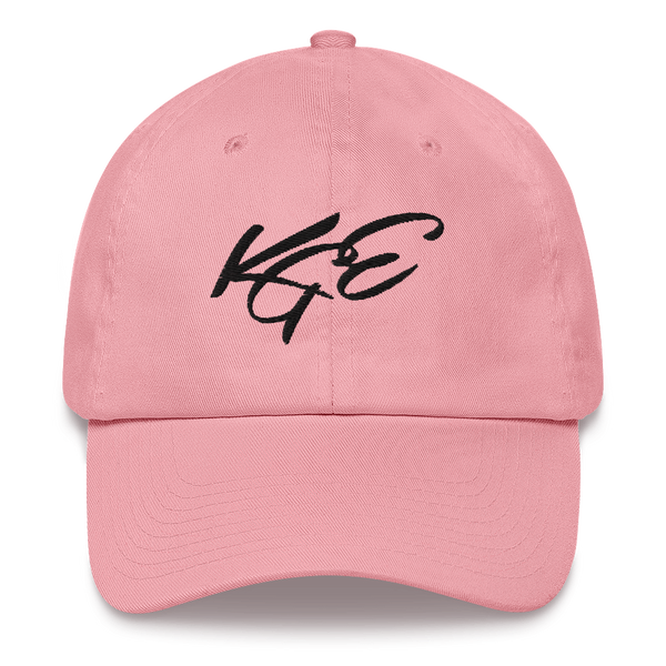 KGE SIGNATURE black letters dad hat