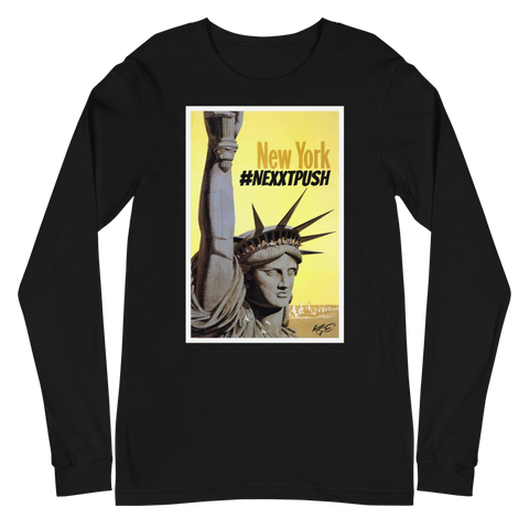 #Nextpush Vintage New York - Bella + Canvas Unisex Long Sleeve Tee