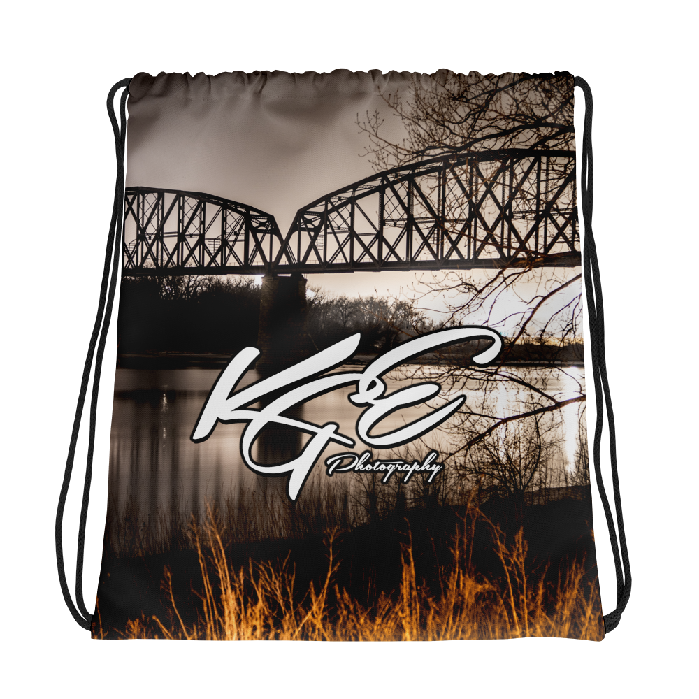 KGEphoto Bis-Man North Dakota Drawstring bag