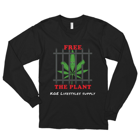 American Apparel, Oversized, FREE THE PLANT LONG-SLEEVE T-SHIRT (MADE IN THE USA)
