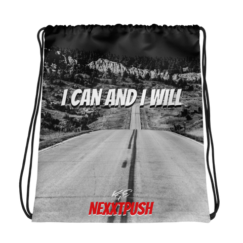 2019 KGE I CAN AND I WILL (NEXXTPUSH) Drawstring bag