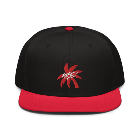 Red Palm Tree Otto Snapback Hat