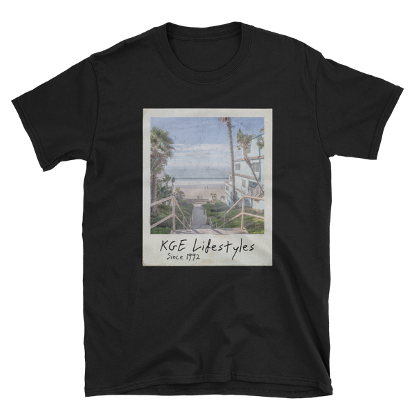 Retiring Soon! Vintage Beach Photo Short-Sleeve