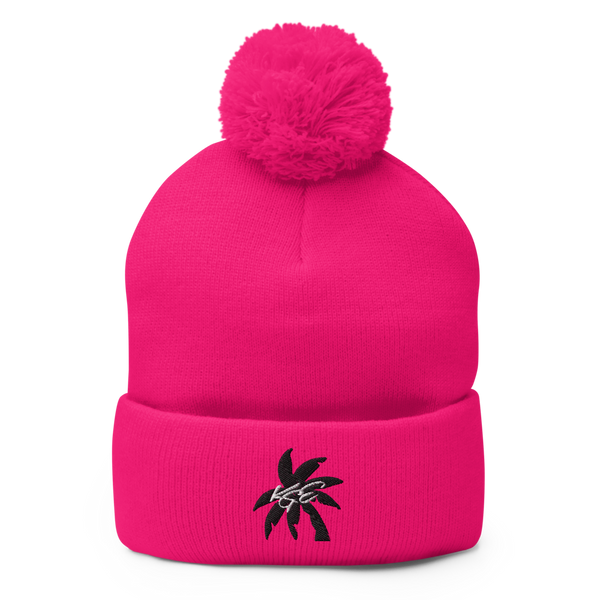 (NEW) BK Palm Tree KGE Signature Pom-Pom Beanie