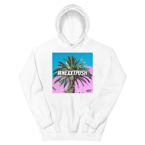 (New) #Nexxtpush Cotton Candy Palm Tree Original Unisex Hoodie (Sizes S - 5XL)