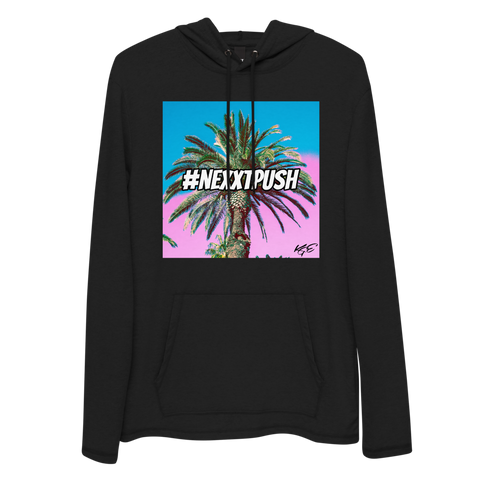 (NEW) Cotton Candy Palm Tree Unisex Lightweight Hoodie