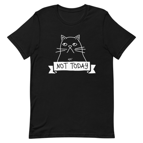 "(NEW) BELLA + CANVAS - CAT-O-GRAPH - ""Not Today"" TEE"