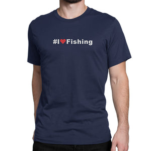 I Love Fishing Hashtag Shirt