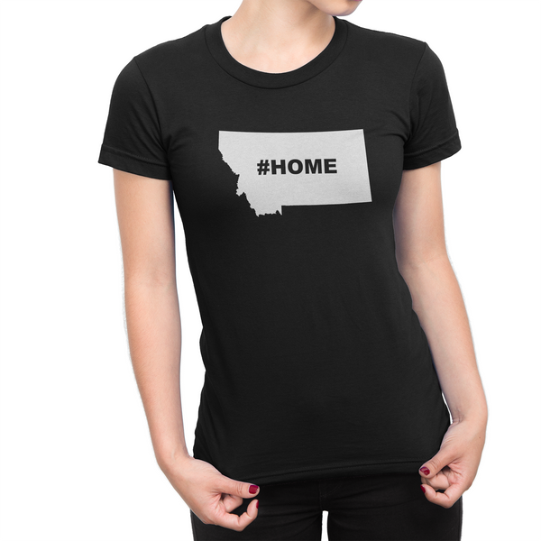 Montan Home Hashtag Womens Shirt Black