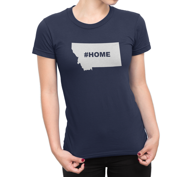 Montan Home Hashtag Womens Shirt Navy