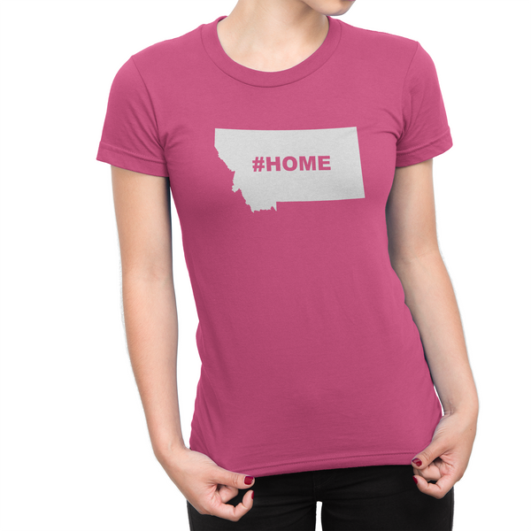 Montan Home Hashtag Womens Shirt Pink