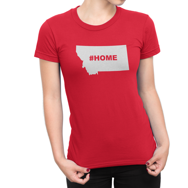 Montan Home Hashtag Womens Shirt Red