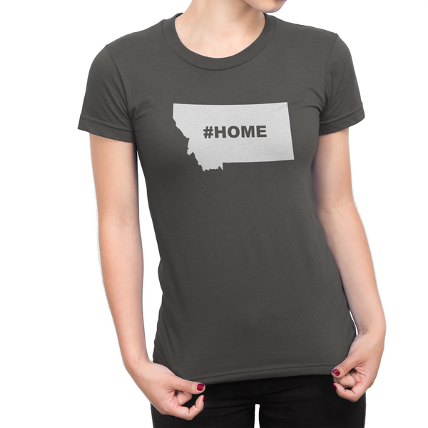 Montan Home Hashtag Womens Shirt Smoke