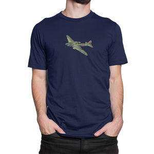 Russian Shturmovik Airplane Shirt Blue