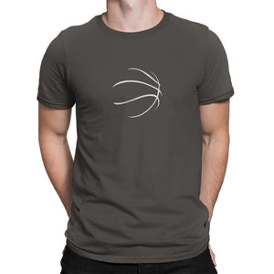 Basketball Logo Mens Shirt Gray