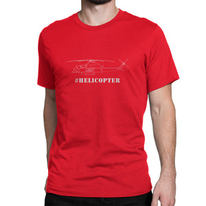Cobra Helicopter Hashtag Shirt Red